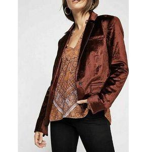 Free People Halo velvet Blazer Jacket - Size M
